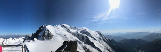 エギーユ・デュ・ミディ展望台からの景色 絶景